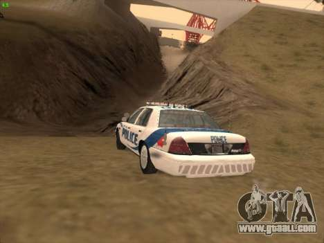 Ford Crown Victoria Vancouver Police for GTA San Andreas side view