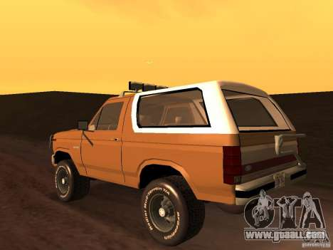 Ford Bronco 1985 for GTA San Andreas left view