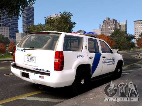 Chevrolet Tahoe Homeland Security for GTA 4 left view