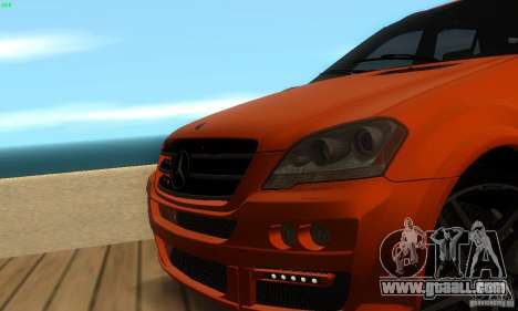 Mercedes-Benz ML63 AMG Brabus for GTA San Andreas upper view