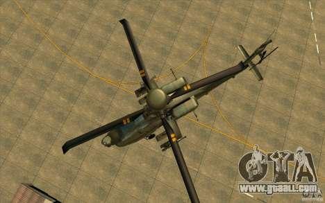 Apache AH64D Longbow for GTA San Andreas side view