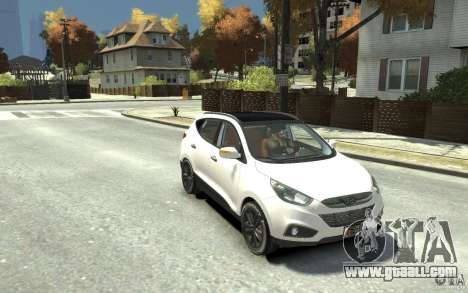 Hyundai IX35 2010 Beta for GTA 4 back view