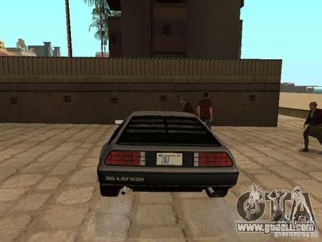DeLorean DMC-12 1982 for GTA San Andreas back left view