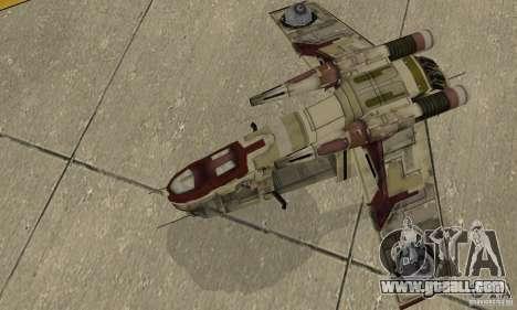 Republic Gunship from Star Wars for GTA San Andreas right view