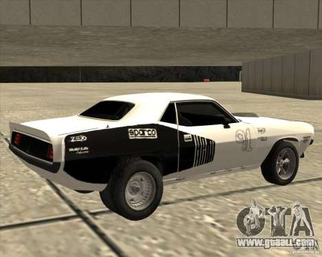 Plymouth Hemi Cuda Rogue for GTA San Andreas left view