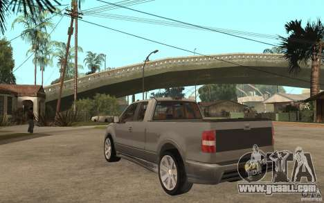 Saleen S331 Super Cab for GTA San Andreas back left view