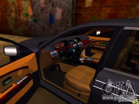 BMW Alpina B7 for GTA San Andreas inner view