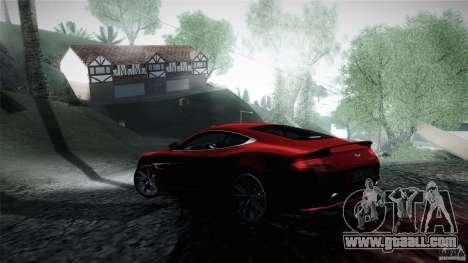 Aston Martin Vanquish V12 for GTA San Andreas back left view