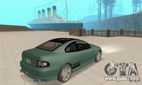 Vauxhall Monaro VXR Open SKY 2004 for GTA San Andreas left view