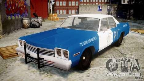 Dodge Monaco 1974 (bluesmobile) for GTA 4