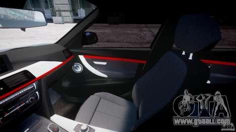 BMW 335i E30 2012 Sport Line v1.0 for GTA 4 back view