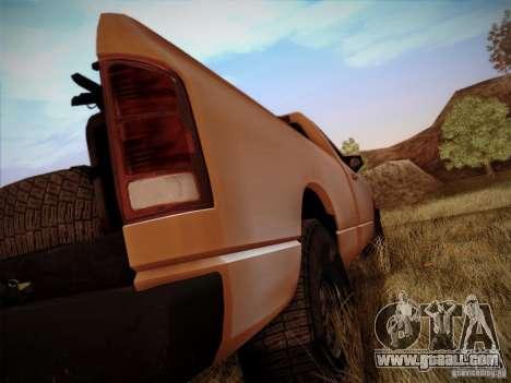 Dodge Ram 1500 4x4 for GTA San Andreas inner view