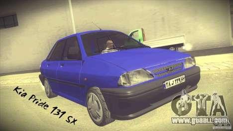 Kia Pride 131 SX for GTA San Andreas
