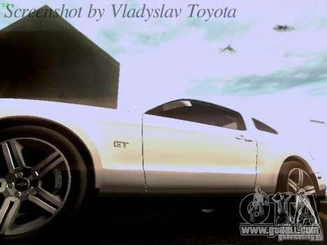 Ford Mustang GT 2011 for GTA San Andreas interior