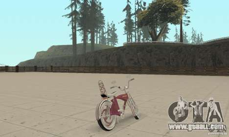 Lowrider Bicycle Custom Version for GTA San Andreas left view