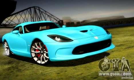 Dodge Viper SRT  GTS for GTA San Andreas left view