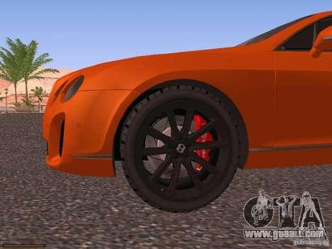 Bentley Continetal SS Dubai Gold Edition for GTA San Andreas upper view