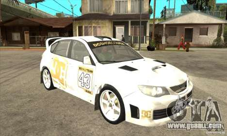 Subaru Impreza WRX STi DC Shoes of DIRT 2 for GTA San Andreas back view