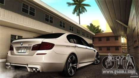 BMW M5 F10 2012 for GTA San Andreas back view