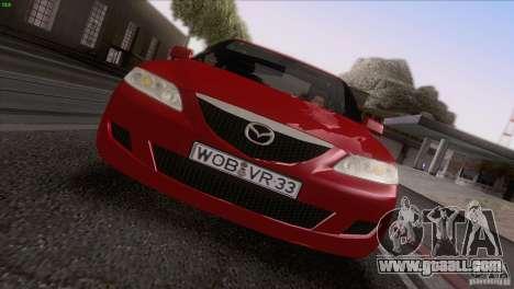 Mazda 6 2006 for GTA San Andreas upper view