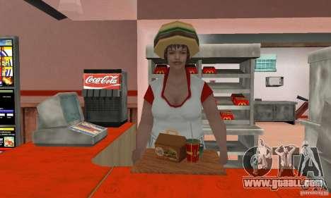 Eateries McDonals for GTA San Andreas