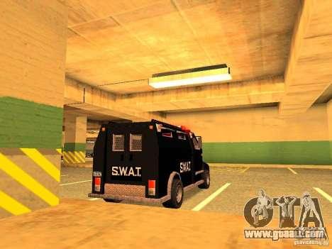Swat III Securica for GTA San Andreas left view