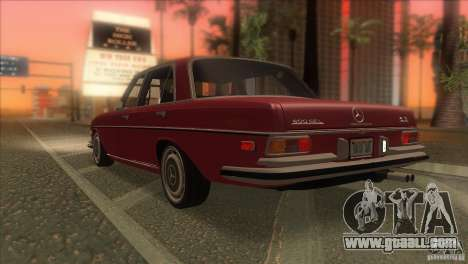 Mercedes-Benz 300 SEL for GTA San Andreas interior