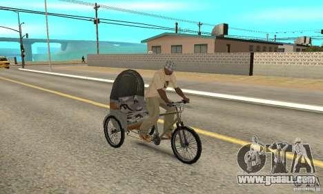 Manual Rickshaw v2 Skin1 for GTA San Andreas right view