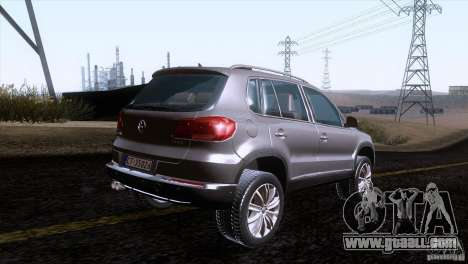 Volkswagen Tiguan 2012 for GTA San Andreas back left view