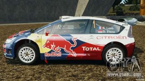 Citroen C4 WRC for GTA 4 left view