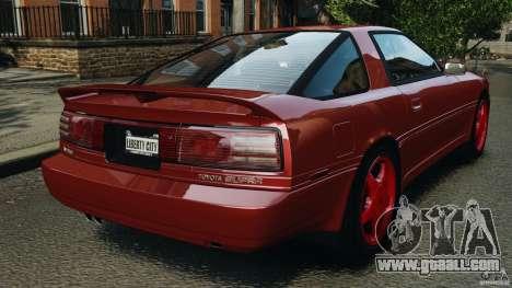 Toyota Supra 3.0 Turbo MK3 1992 v1.0 [EPM] for GTA 4 back left view