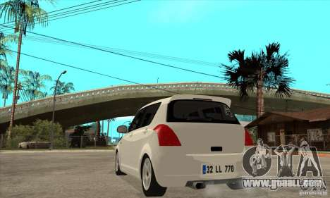 Suzuki Swift 4x4 CebeL Modifiye for GTA San Andreas back left view