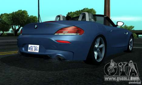 BMW Z4 2010 for GTA San Andreas right view
