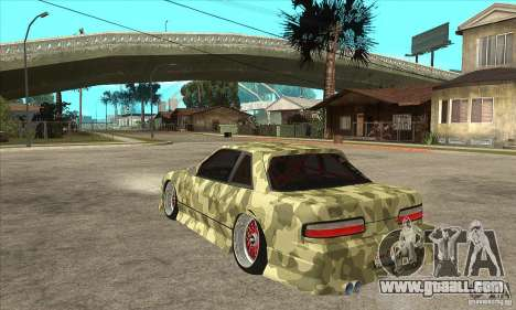 Nissan Silvia S13 Army Drift for GTA San Andreas back left view
