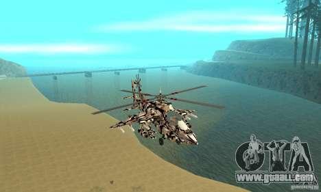 Hydra Hunter for GTA San Andreas back view