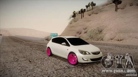 Opel Astra 2010 for GTA San Andreas right view