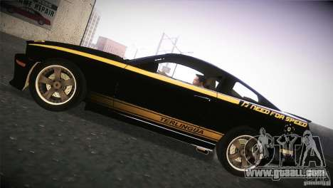 Shelby GT500 Terlingua for GTA San Andreas back left view