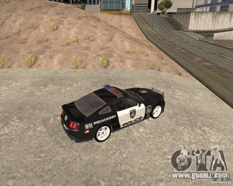 Ford Shelby GT500 2010 Police for GTA San Andreas left view