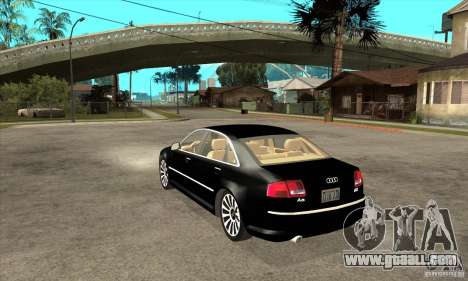 Audi A8 from Carrier 3 for GTA San Andreas back left view