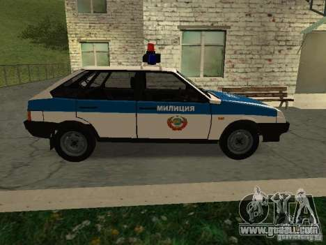 VAZ 2109 Police for GTA San Andreas left view