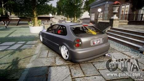 Honda Civic EK9 Tuning for GTA 4 side view
