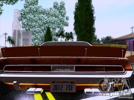 Dodge Challenger HEMI for GTA San Andreas left view