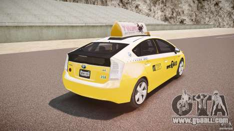 Toyota Prius NYC Taxi 2011 for GTA 4 bottom view