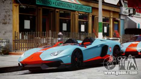 Lamborghini Aventador J 2012 Gulf for GTA 4 left view