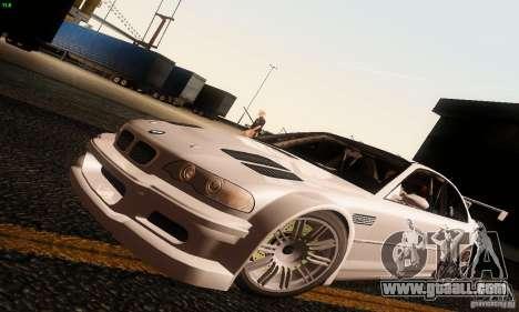 BMW M3 GTR v2.0 for GTA San Andreas