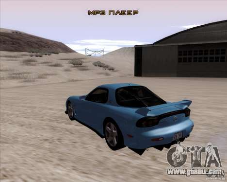 Mazda RX7 2002 FD3S SPIRIT-R (Type RS) for GTA San Andreas back left view