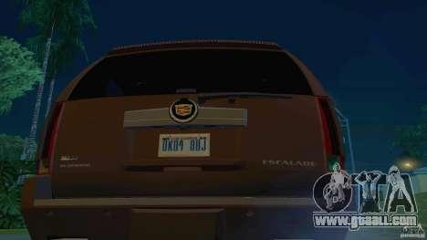 Cadillac Escalade ESV 2012 for GTA San Andreas back left view