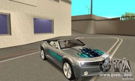 Chevrolet Camaro Concept 2007 for GTA San Andreas engine