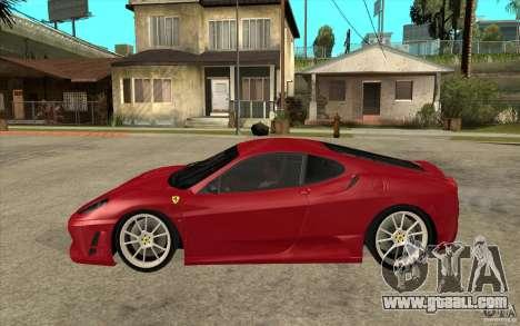Ferrari F430 Scuderia for GTA San Andreas left view