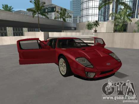 Ford GT for GTA San Andreas upper view